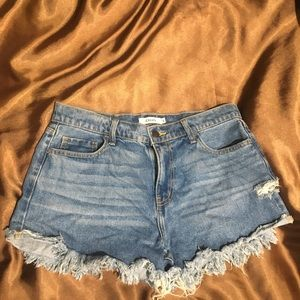 High waisted shorts size L fits XL